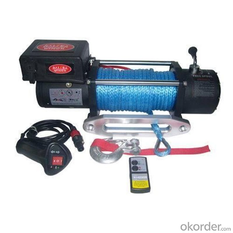 CMAX2001-I Power Cable Winch 12v/24v, Roller Fairlead, Handheld Remote Winch for Jeep