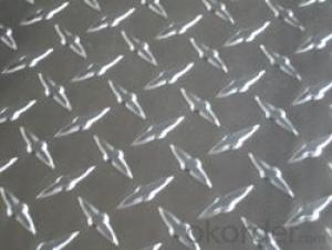 Aluminium treadplate in diamond pattern for building