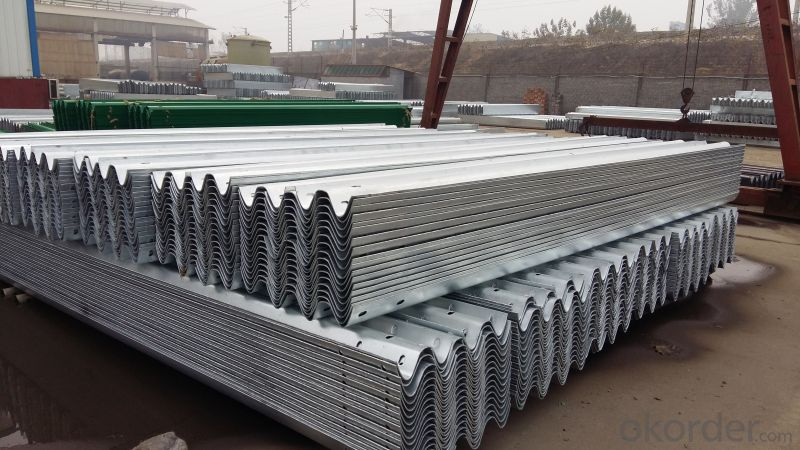 Galvanized Steel Road Safety Traffic Barrier Passed CE