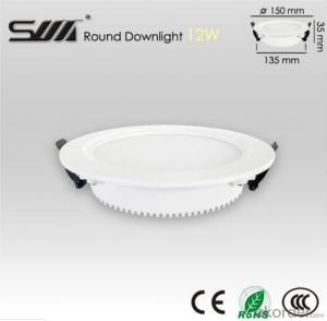 12W Round LED Downlight for indoor usage