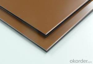 Interior Wall Decorative Aluminum Composite Panel Anodized Aluminum Golden Mirror Aluminum Composite