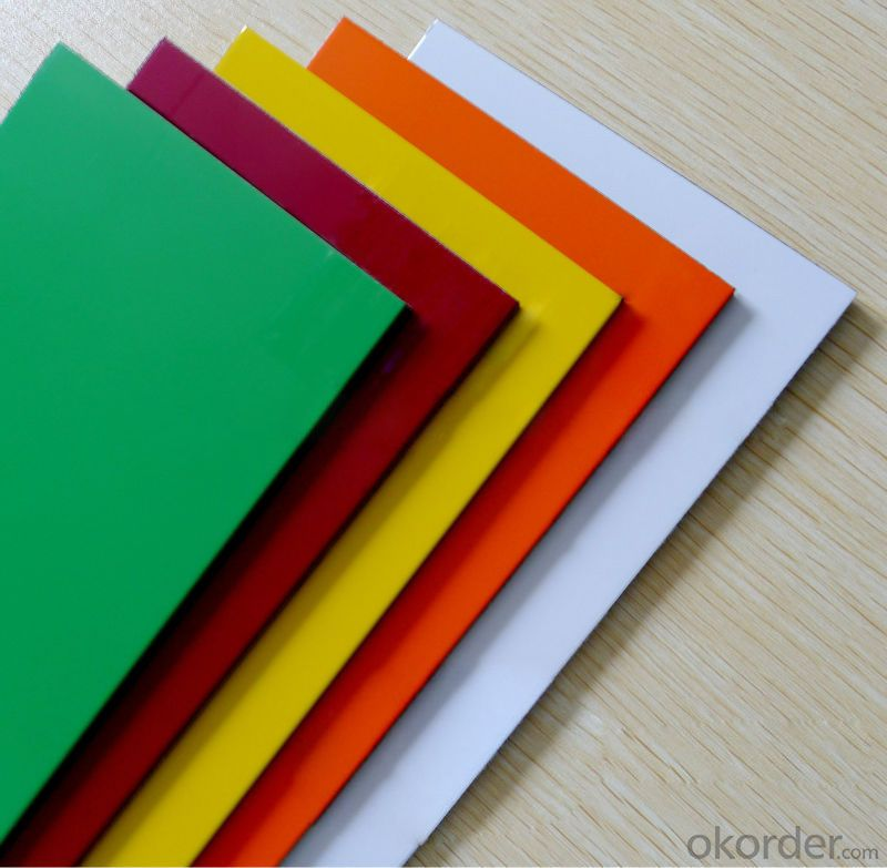 Double Sides Glossy Color Pvdf Aluminum Composite