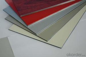 Silver Color PVDF Aluminium Composite Panels for Decoration