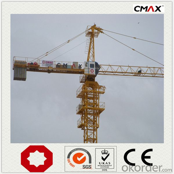 Tower Crane TC6520 VFD PLC CMAX Brand in China