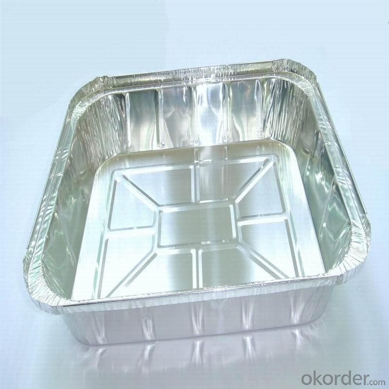 Aluminum container - pie pan container foil FOR FOOD 8011