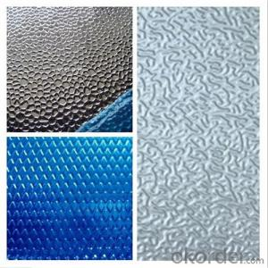 PE PVDF Embossed Diamond Color Coated Aluminum Sheet