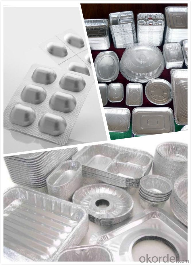 A-1235 8011 3003 Soft paper food packing aluminum foil 6 micron -9 micron