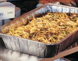 Aluminum foils container - pie pan container foil FOR FOOD 8011