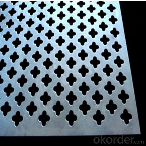 Perforated Metal Decorative Cloverleaf Aluminum Sheet