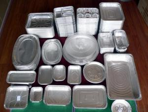 Aluminium Foil Three Compartment Tray Container for Food Take-out