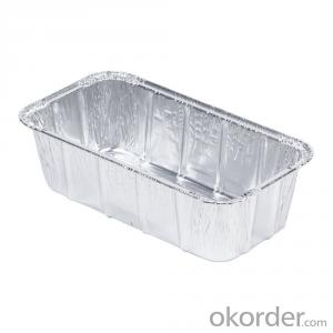 colored Smooth Wall Aluminium Foil container container for food