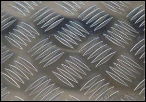 Mill Finished Aluminium Treadplate of Big Five Bar Pattern