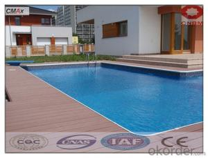WPC Decking Tile High Density Solid Outdoor Waterproof For Sale