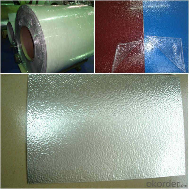 Color Painted and Embossed Aluminium Foils Used for Insulated Panels