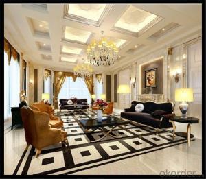 Polished Porcelain Tile The Super Black Color CMAXSB6800