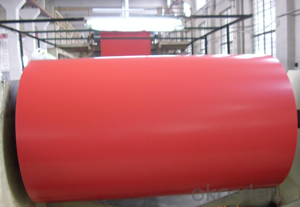 Red Color Coated Aluminum Coil Aluminum Roll Coating PE