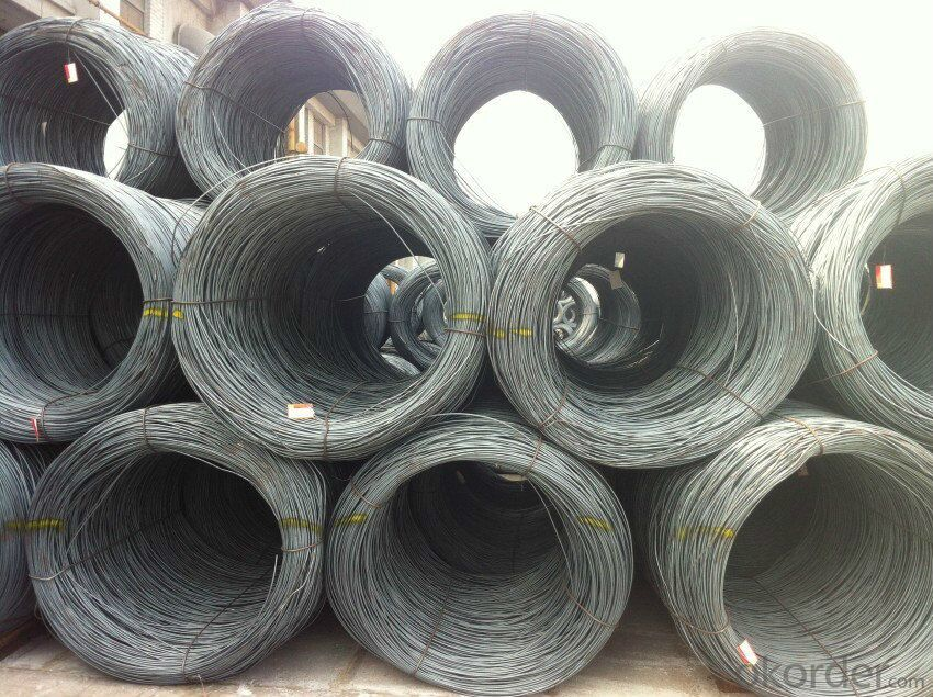 Supply 6.5mm steel wire rod in coils in sale