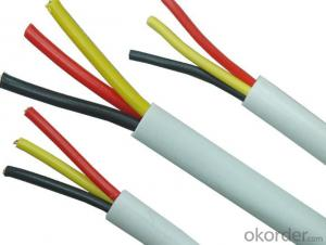 PVC Insulated Electrical Wire/Cable with Bare Copper Conductor