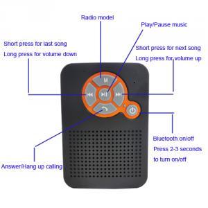 Suction Cup Splash-Proof Wireless Bluetooth Shower Speaker