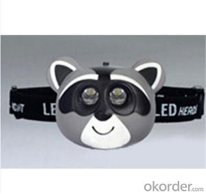 2 LED Animal Light for Child, LED Animal Headlight, LED Animal Toy Headlamp
