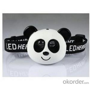 2 LED Mini Headlamp Rubber Panda Head Light