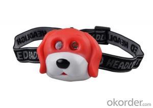 2 LED Mini Headlamp Rubber Panda Head Light