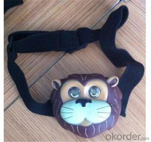 Animal Head Lights Super Led Headlamps with Head Strap Best Headlamp for Children Camping and Hiking