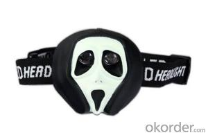 The Halloween Ghost Mask Children Head Torch Light