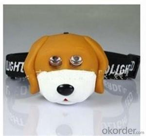 Cute Animal Head Lights with Braid Supply by AAA Battery