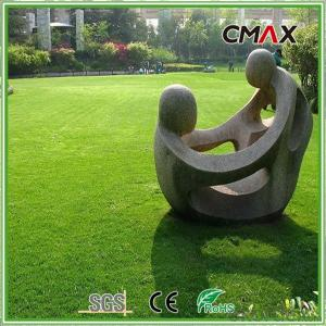 Landscape Garden Artificial Grass Turf With Rock Bottom Price