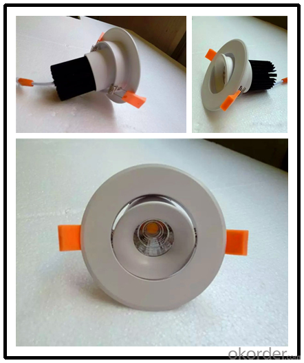 Led Recessed Downlight Lighting 12W 4'' Indoor Hotel Room