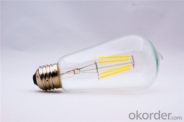 dimmable led filament bulb Clear Glass 360 2w 4w 6w 8w e14 e27