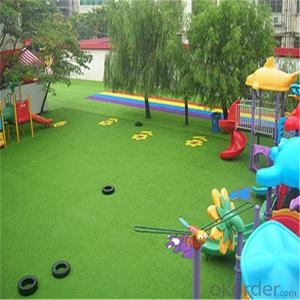 25mm Height Kindergarten Grass with PE straight /PP curled Monofilament yarn