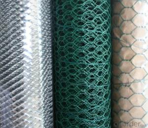 PVC Coated Galvanized Hexagonal Wire Mesh CE, SGS, RoHS Marks High Tensile