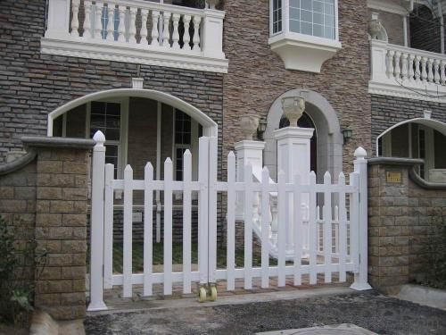 White Security Garden PVC Fence for Europe