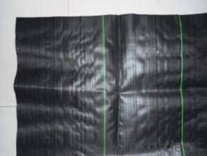 Woven Polypropylene Geotextile with Green Lines