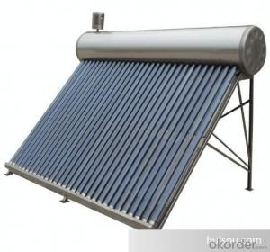 Solar Collector With Copper Coil In Water Tank