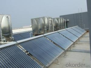 Solar Water Heater With Copper Coil In Water Tank