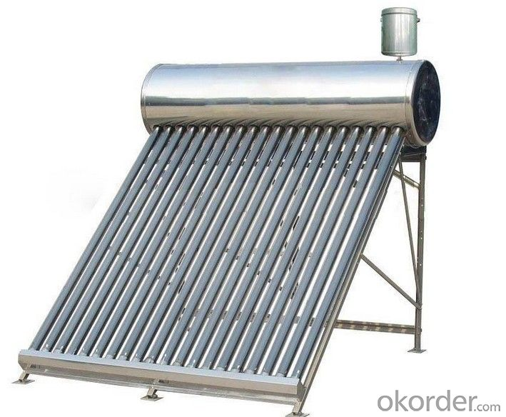 Solar Heater With Copper Coil In Water Tank