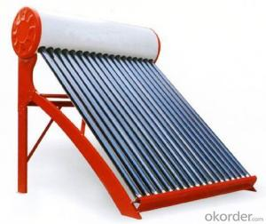 Solar Collector With Copper Coil In Water Tank 2015 New Design
