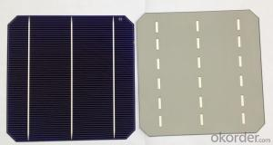 4.64W 3 BB A Grade Mono Solar Cell156mm with19.4-19.5% Efficiency approved by CE TUV