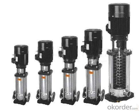 Vertical Multistage Centrifugal Pump Stainless Steel 304 Produce in China