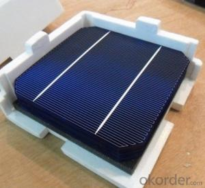4.49W 3 BB A Grade Mono Solar Cell156mm with18.8-19% Efficiency approved by CE TUV