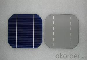 4.52W 3 BB A Grade Mono Solar Cell156mm with18.9-19% Efficiency approved by CE TUV