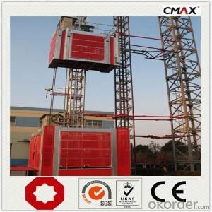 Building Hoist 3200kg Single Cage Transportation