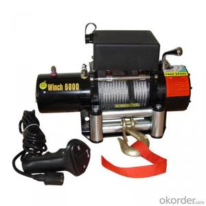 9500lbs Power Cable Winch 12v/24v, Roller Fairlead, Handheld Remote