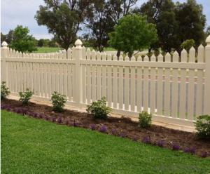 White Security PVC Fence for Beautiful Garden