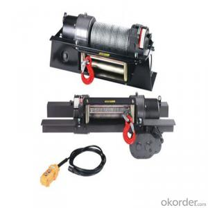 1200lbs Power Cable Winch 12v/24v, Roller Fairlead, Handheld Remote