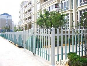 White Security PVC Fence for Community Garden