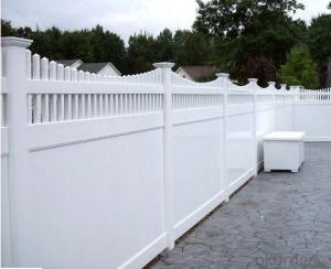 Lifetime Warranty PVC Vinyl Guardrail Fence